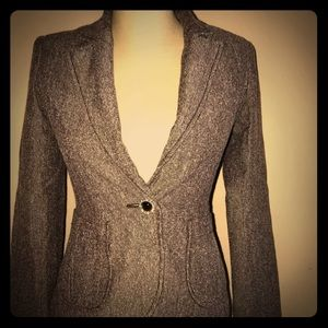 H&M Chocolate Brown Blazer-Size Small